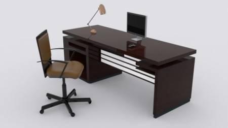 مدل آماده میز و صندلی اداری و سیستم کامپیوتر