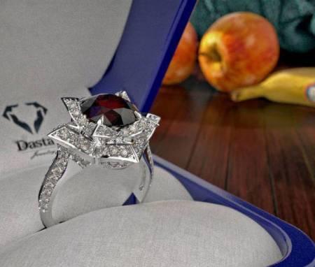 انگشتر زنانه پایه جواهر