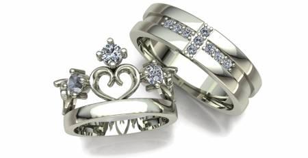 انگشتر حلقه ست مردانه زنانه