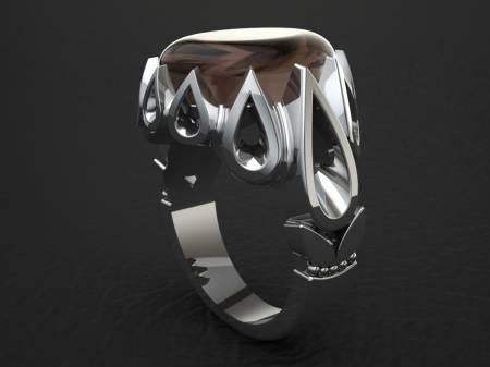 انگشتر مردانه اشکی