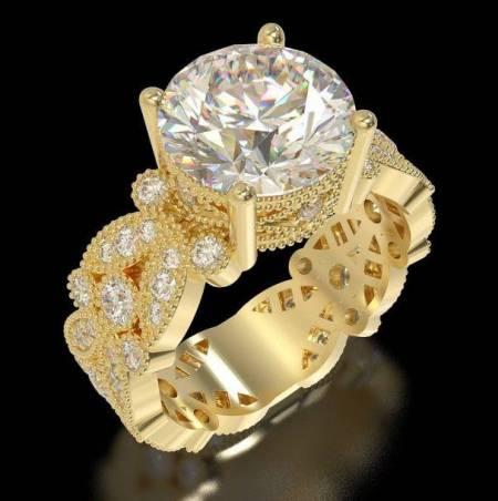 انگشتر پایه جواهر