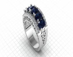 انگشتر زنانه جواهری